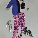 1 Teil 2 Styles | Gemusterte Hose